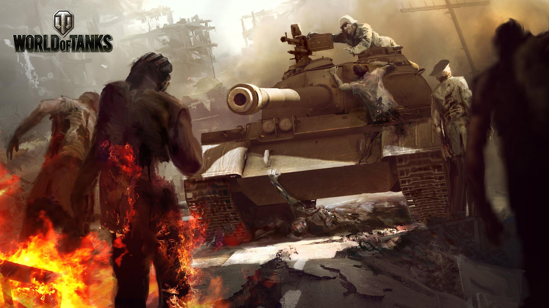 Tuez des zombie dans World Of Tanks